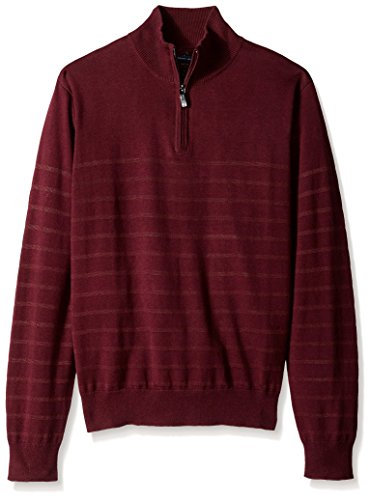 Perry Ellis Stripe Quarter Sweater