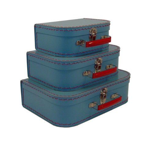 cargo Vintage Travelers Mini Suitcases, Set of 3,  Soft Blue (Mini Suitcase)