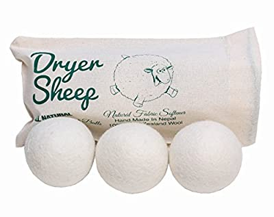 Dryer Sheep Bundle - 100% All-Natural New Zealand Wool Dryer Balls [6 Dryer Balls] + Charlie's Laundry Detergent Soap Powder [1 container of 2.64lbs]