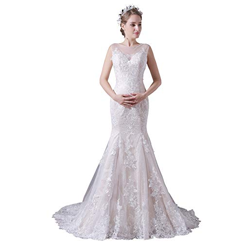 YUEZHIMENG Haute Couture Women's Wedding Lace Strapless Elegant Temperament Princess Wedding Dress Adult/Children Dress Evening Dress,US22W