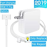 Mac Book Air Charger, 45W Magsafe 2 T-Tip Power Adapter Magnetic Connector Replacement Charger for Apple Mac Book Air 11 inch/13 inch (After Mid 2012)