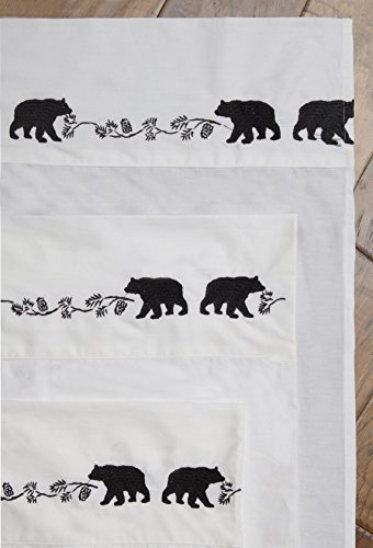 Carstens Embroidered Bear Sheets, King