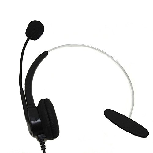 CQtransceiver Replacement Mono Telephone Headset RJ9 Crystal Clear Plug for Powertouch 480 480e 480i Telephones i2002 i2004 i2004IP Landline Earphone