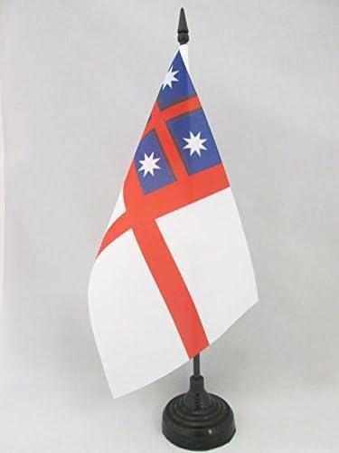 AZ FLAG Bandiera da Tavolo CONFEDERAZIONE delle trib/ù Maori della Nuova Zelanda 21x14cm Piccola BANDIERINA NEOZELANDESE 14 x 21 cm