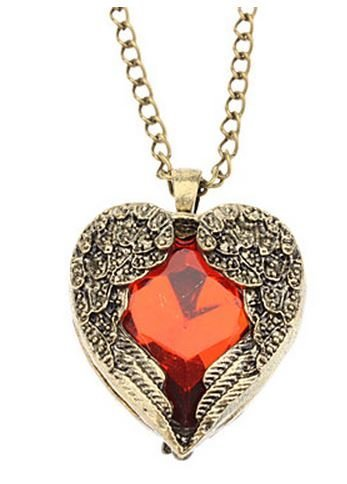 bhp heart pendant necklaces ebay necklace swarovski red