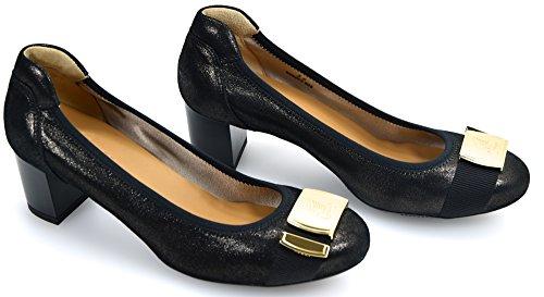 Hogan H228 Zapato Plano Bailarina Negro Para Mujer Art. HXW2280S7507VOB999 801132793060