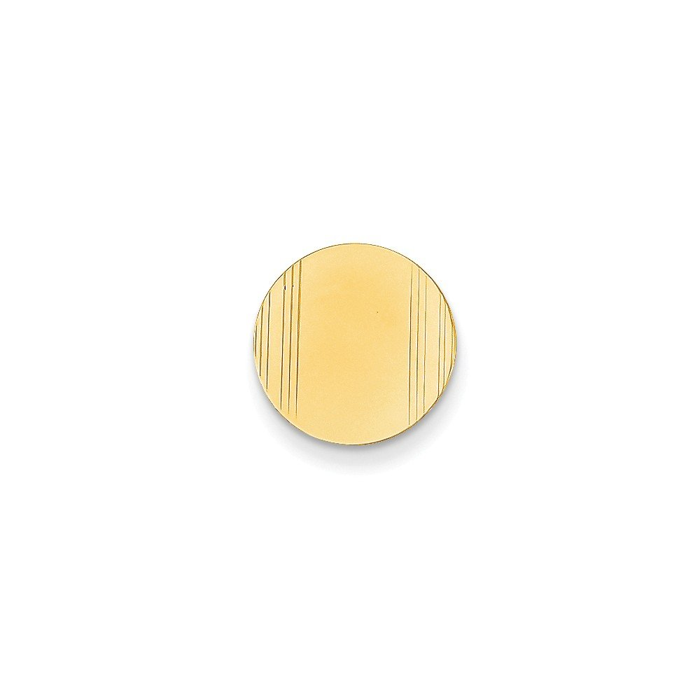 Solid 14k Yellow Gold Tie Tac (13mm x 13mm)