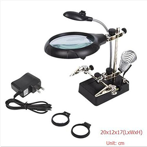 Joyutoy Hand Magnifier Station 10X Hands Free Magnifying Glass Stand with Clamp And Charger For Soldering, Assembly, Repair, Modeling, Hobbies and (Easy Halloween Crafts To Sell)