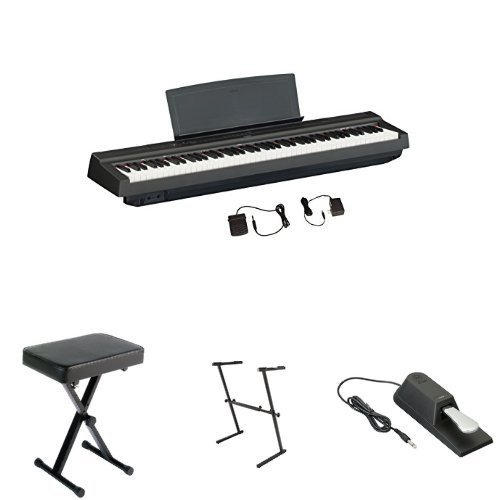Find Cheap Yamaha P125 Digital Piano Bundle with Z Stand, Bench and Sustain Pedal, Black