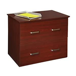 OfficeMax Mahogany 2-Drawer Lateral File Cabinet OM03906