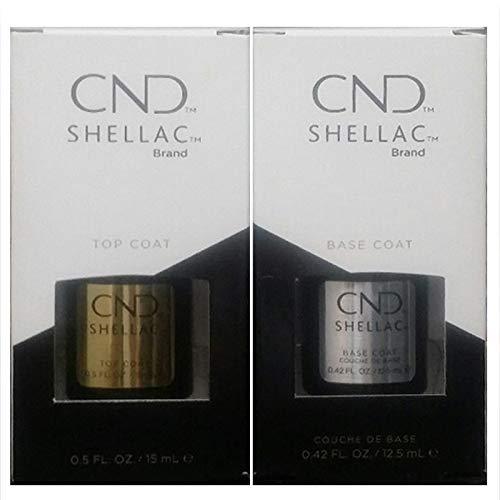 Shellac CND Powder Polish Top + Base Coat - 12.5ml Large Size UV3 Gel
