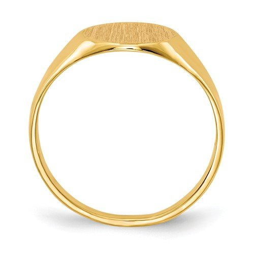 Roy Rose Jewelry 14K Yellow Gold Open Back 9.8mm Round Signet Ring Custom Personailzed with Free Engraving Available Initial or Monogram ~ Size 8 by Roy Rose Jewelry (Image #2)