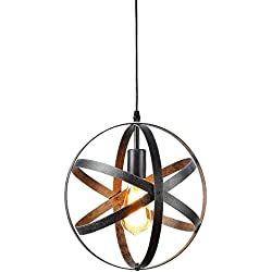 Create for Life Rustic Pendant Light Chandelier One Light Pendant Light Globe Chandelier Vintage Industrial Pendant Light Fixture for Kitchen Island
