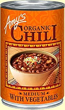 Amy's Medium Chili With Vegetables 14.7 OZ(Pack of 2)