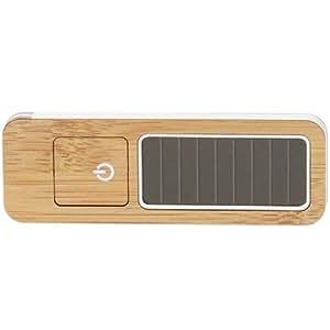 Lexon Safe Light - Linterna solar de bambú