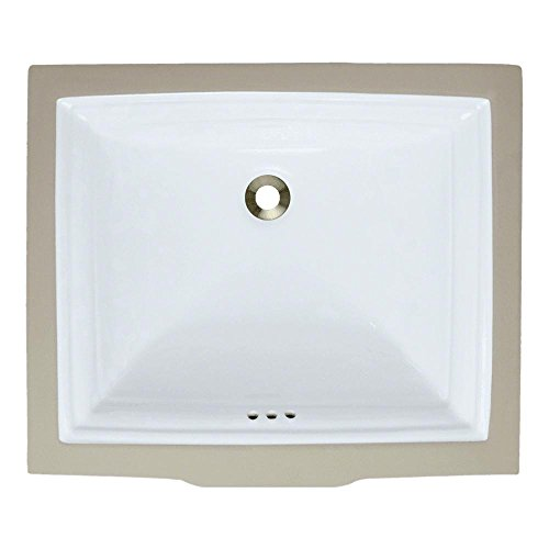 U2450-White Undermount Porcelain Bathroom Sink, Sink Only