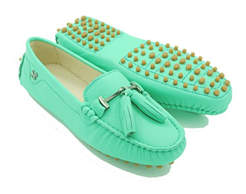 Minitoo - Sandalias con cuña mujer Leather-Turquoise