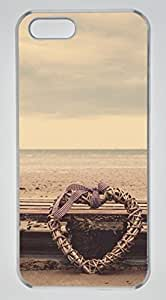 Beach Heart DIY Hard Shell Transparent Designed For iphone 5s Case