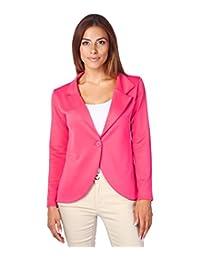 KRISP Womens Boyfriend Blazer One Button Tailored Jacket Party Evening
