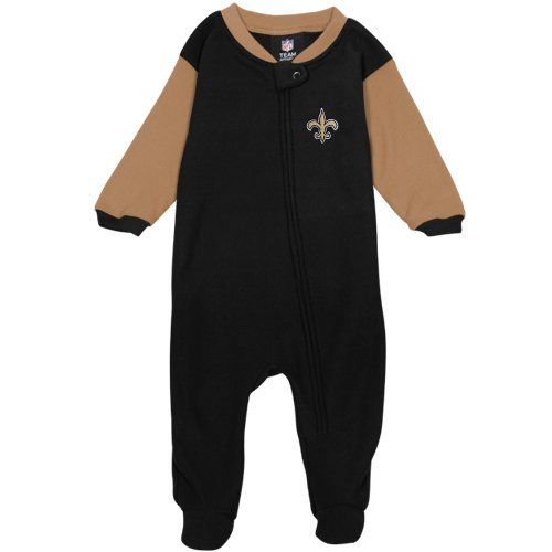 NFL New Orleans Saints Infant/Toddler Blanket Sleeper, 12 Months