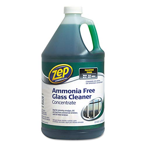 Zep Commercial Glass Cleaner Concentrate - Concentrate Liquid Solution, Green - 1 gal (128 fl oz) - 1 Each - Cleaner Free Ammonia Glass
