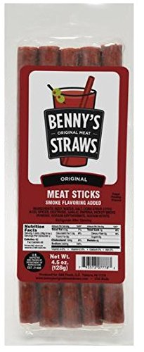 Benny's Bloody Mary Beef Straws - Pack of 5 ()