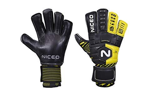 Portero portero híbrido de látex negativo más guantes de fútbol de silicona Niceo Portero Guantes Pasión