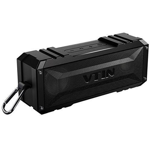 Vtin 20 Watt Waterproof Bluetooth Speaker, 30 Hours Playtime Portable Outdoor Bluetooth Speaker, Wireless Speaker for iPhone, Pool, Beach, Golf, Home(Pure Black)