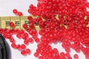 - 5/0 Vin.Venetian Glass Seed Beads Round Trans Ruby Matte Crafts Jewelry /1oz Spacer Beads and Roll Crystal String for Bracelets Jewelry Making