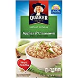 Quaker Instant Oatmeal, 80 Packets Total, 10 Packets Per Box, RgROZd 2 Pack (Apples and Cinnamon Oatmeal)