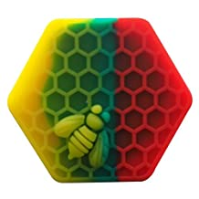 Gentcy 26ml 1PCS Rasta Hexagon Silicone Container NonStick Honeybee Silicone Jar Oil Wax Dab