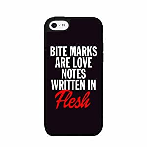 Bite Marks Are Love Notes Written In Flesh TPU RUBBER SILICONE Phone Case Back Cover iPhone 5 5s includes diy case Cloth and Warranty Label
