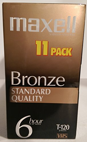 Maxell Bronze T-120 Standard Quality - 11 pack.