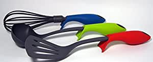 Toolz Kitchen Utensils Set ! Easy to use anti-slip design! For Pots and Pans! Easy to Clean! Heat Resistant!
