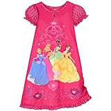 "Disney Store ""Princess At Heart"" Nightshirt Nightgown Girls Size 2/3"