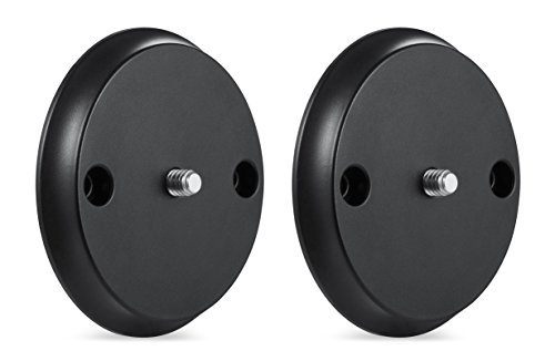 Wall Mount for Nest Cam IQ – Mount Nest IQ with Screws onto Any Wall or Use the Strong Magnet to Mount the Camera onto Any Metallic Surface Without Tools or Wall Damage –by Wasserstein (2 Pack, Bl