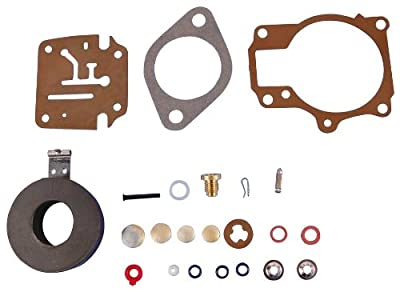 Carburetor Kit with Float - OMC 382048 - 9.5 hp - 1964 to 1972 - Johnson Evinrude