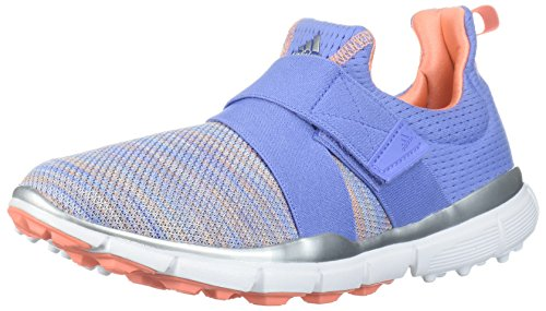 adidas Women's Climacool Knit Golf Shoe, Chalk Purple/Blue/Coral s, 7 M US