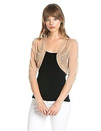 Fashion Secrets Junior's Sheer Chiffon Bolero Mesh Shrug Jacket Cardigan 3/4 Sleeve