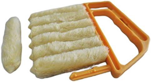 洗えるジャロジークリーニングブラシ非常に吸収性洗える錆防止すべての種類のブラインド1個-黄色