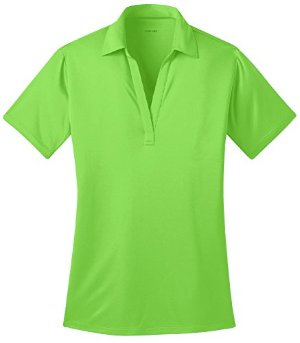 Joe's USA Silk Touch Golf Polo Shirt, L-Lime
