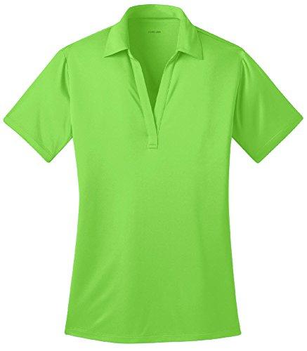 Joe's USA Silk Touch Golf Polo Shirt, L-Lime