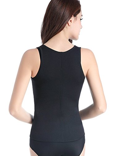 DODOING Womens Hot Sweat Body Shaper Tank Top Tummy Fat Burner Slimming Sauna Vest No Zip