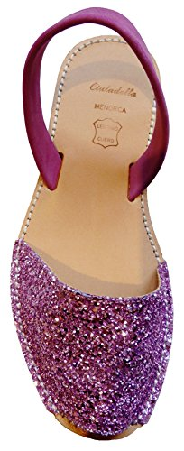 Authentic Different Sandals Rosa Avarcas Menorquínas Colors Menorcan Glitter Chicle fpfwnxqSE