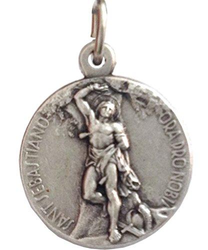 Pendant Saint Medal Sebastian (Saint Sebastian Silver Medal - The Patron Saints Medals)