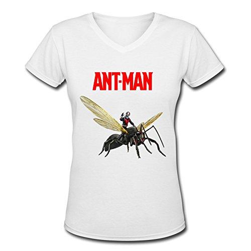 AOPO Ant Man V-Neck Short Sleeve T Shirts For Women Large (Caesar Costume Ape)