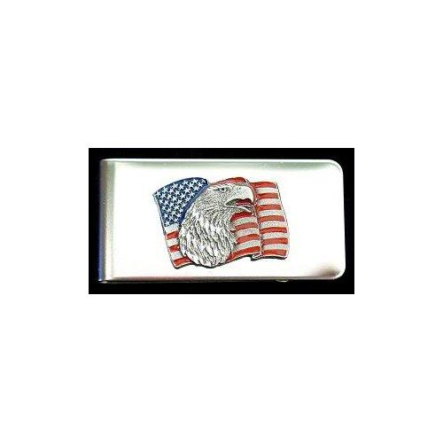 Siskiyou American Flag with Eagle Head Money Clip