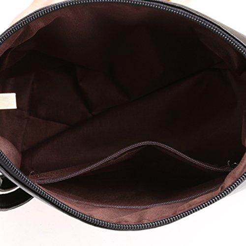 Bolso de las mujeres - All4you PU cuero hombro sólido pequeño bolso Casual Messenger Tote(Black) Negro