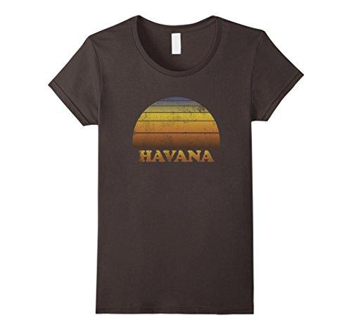 [Womens Havana T Shirt Vintage Cuba Teens Adult Kids Cool Attire XL Asphalt] (70s Attire For Womens)