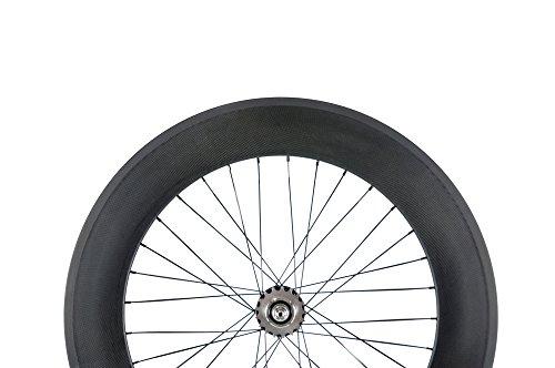 Sunrise Bike Carbon Track 88mm Matte Finish Clincher Rear Wheel for Fixed Gear Bike by SunRise (Image #1)